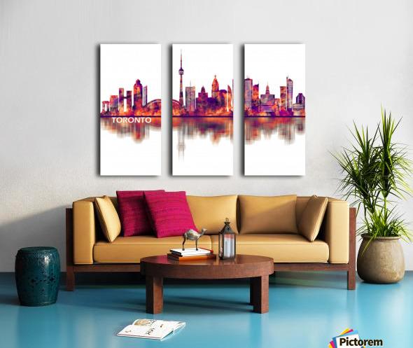 Toronto Canada Skyline Split Canvas print
