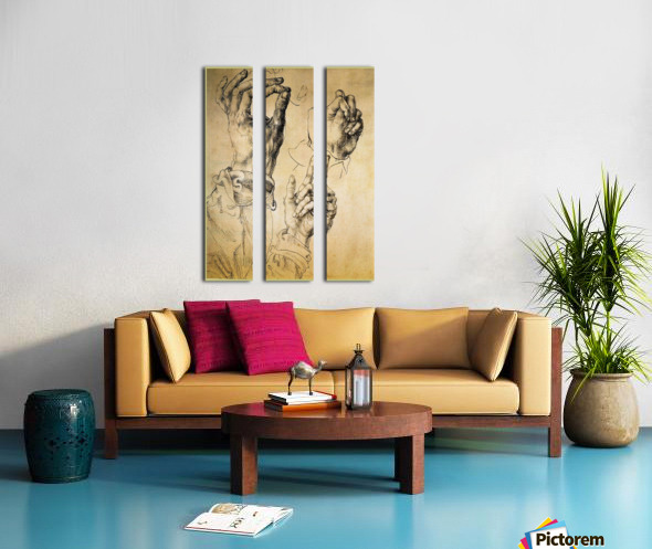 Study of Three Hands Split Canvas print