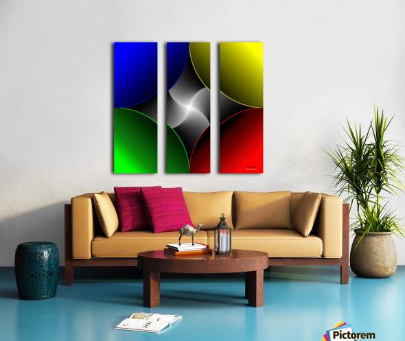 1-Colors Idea 2 Split Canvas print