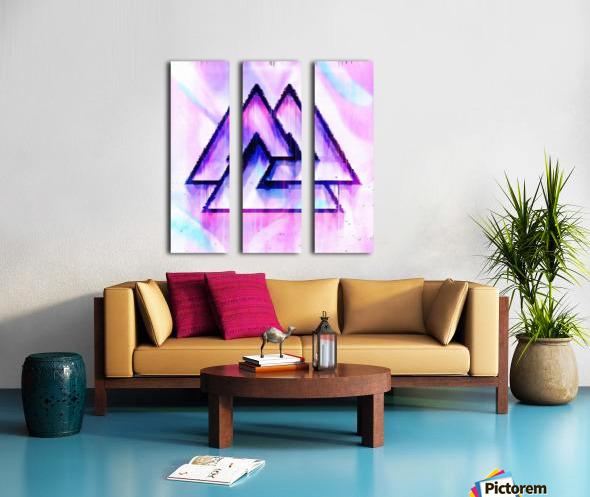Valknut Light & Colorful Split Canvas print