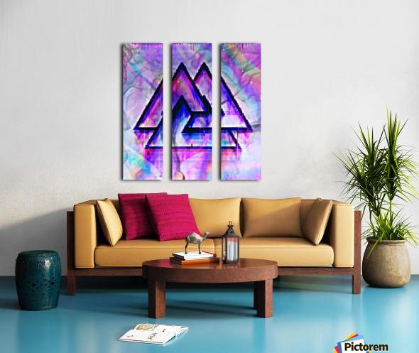 Valknut Colorful Split Canvas print