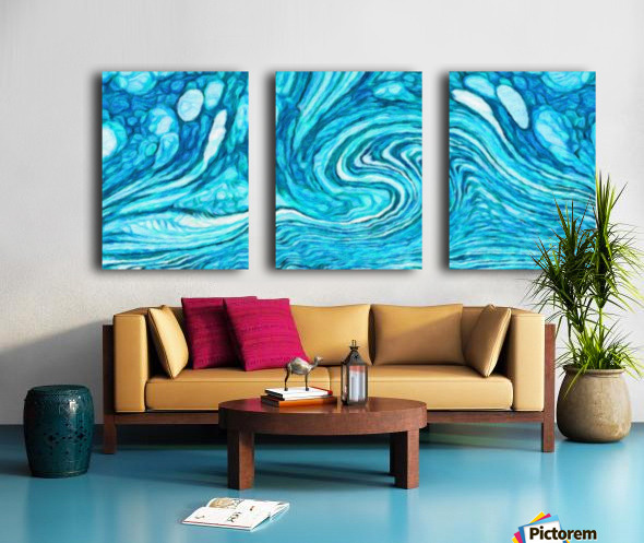 Wave DAY Split Canvas print