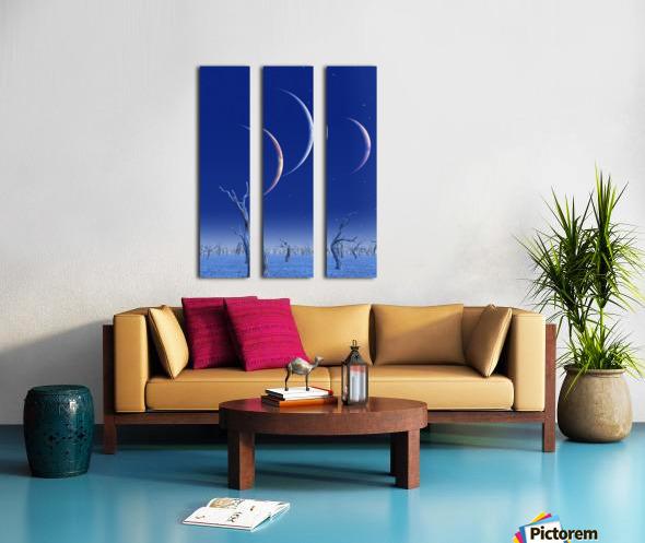 Three Planets Rise Split Canvas print