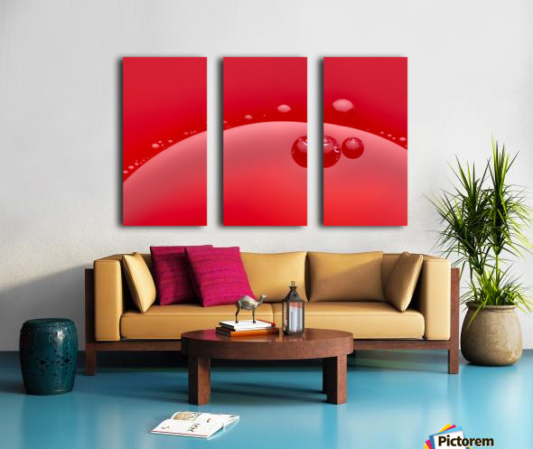 Abstract background of red color and circle shape Split Canvas print