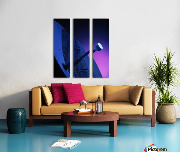 Blue Antenna Split Canvas print