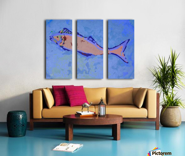 Fish Story Split Canvas print