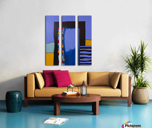 Intensely Invisible Split Canvas print