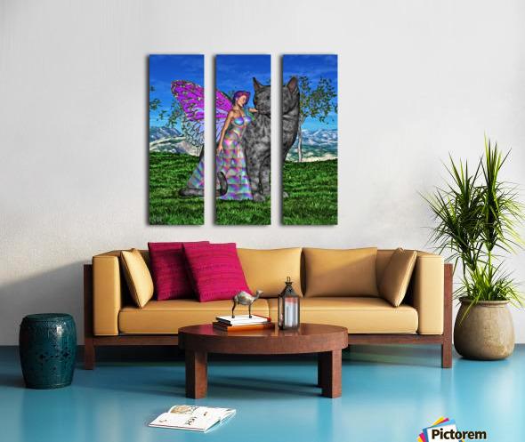 Fae Friends Split Canvas print