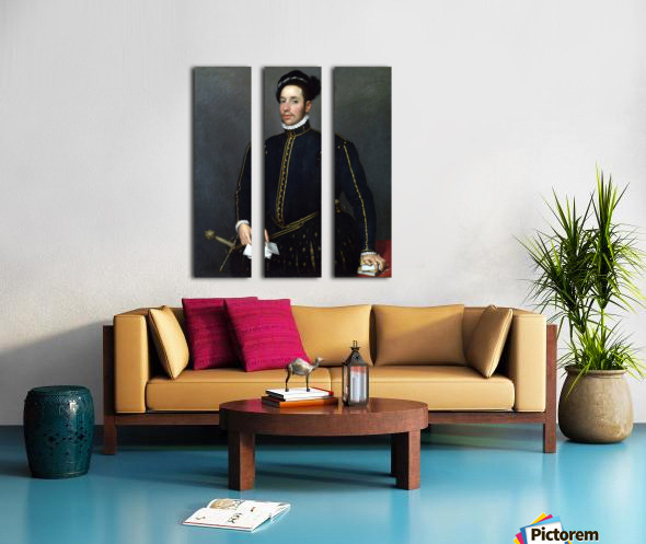 Portrait of a Gentleman ('Il Gentile Cavaliere') Split Canvas print