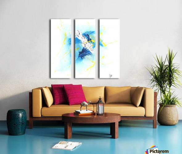 IMPULSION Split Canvas print