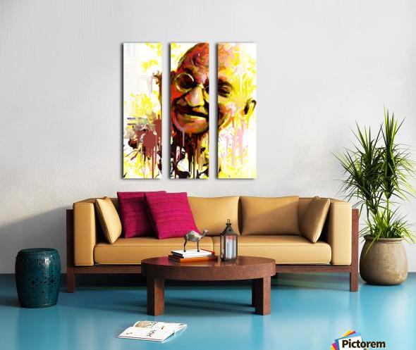 ghandi Split Canvas print