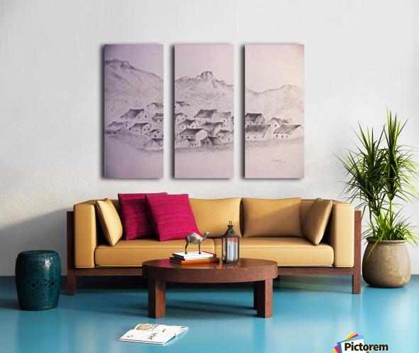 The Hills Split Canvas print