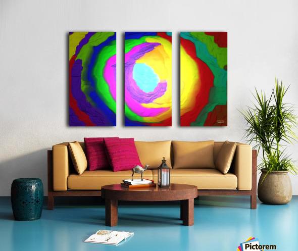 1-Beautiful Color Chaos 1 Split Canvas print