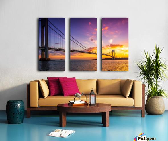 Verrazano bridge at sunset Split Canvas print