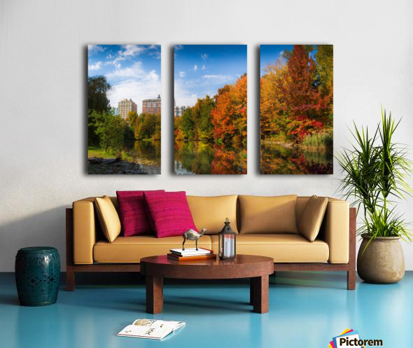 Fall colors in NY Split Canvas print