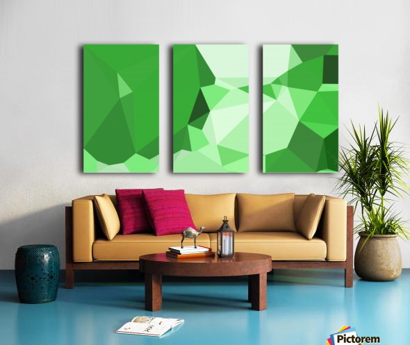 abstract geometric triangular art Split Canvas print