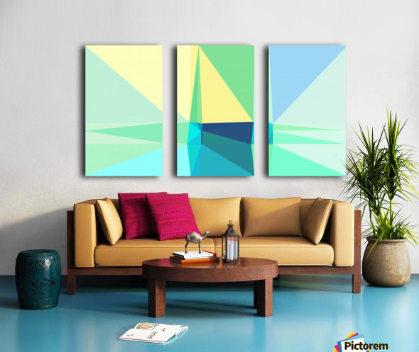abstract colorful geometric shapes Split Canvas print