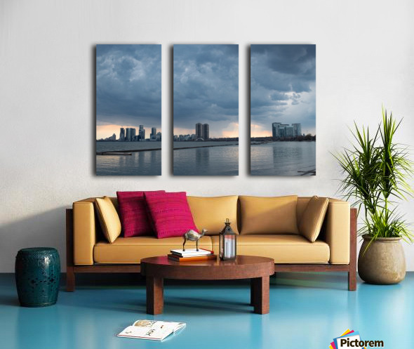 City at Ontario Lake Split Canvas print