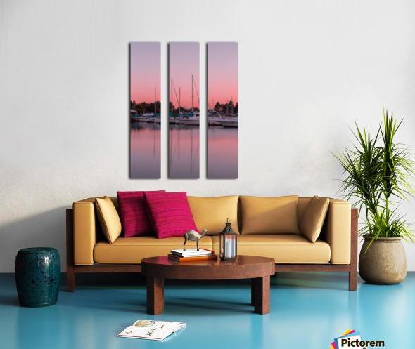Sunset at the Lake Split Canvas print