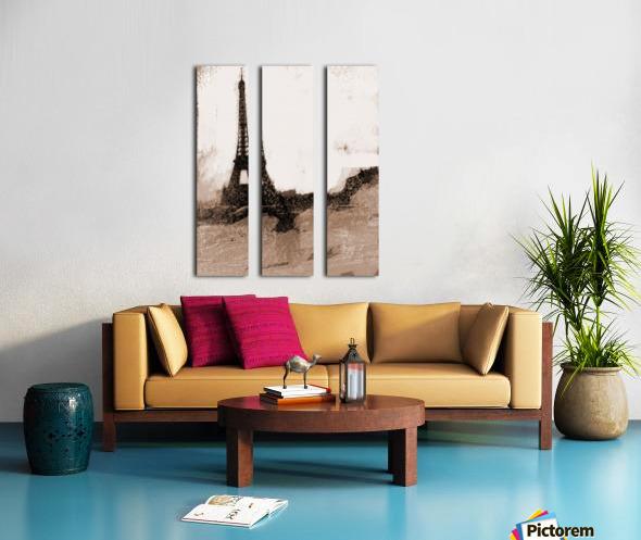 Paris Icon in Sephia Split Canvas print