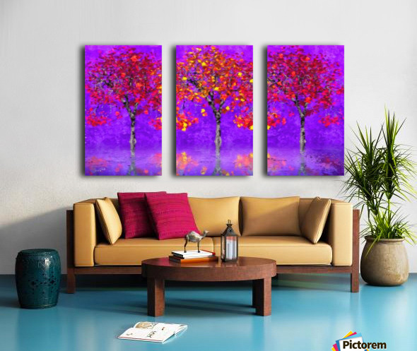 When autumn leaves start to fall Split Canvas print