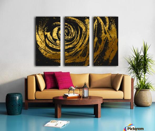 Golden rose Split Canvas print