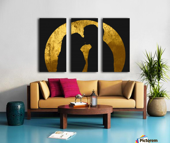 kiss and the moon Split Canvas print