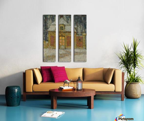 Snow, Versailles Split Canvas print