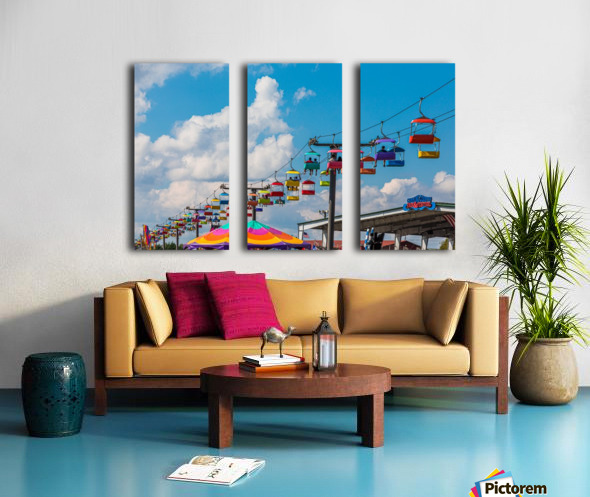 Skylift Over Cumming Fair Split Canvas print