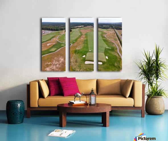 Arcadia Bluffs South Course back nine Par 5s Split Canvas print