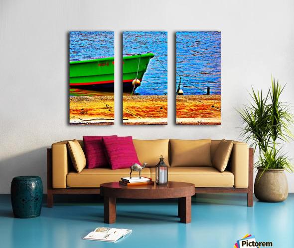 Blue Waters Split Canvas print