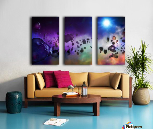 An Asteroids Point of View Split Canvas print