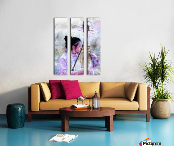 Chinese Musical Interlude Split Canvas print