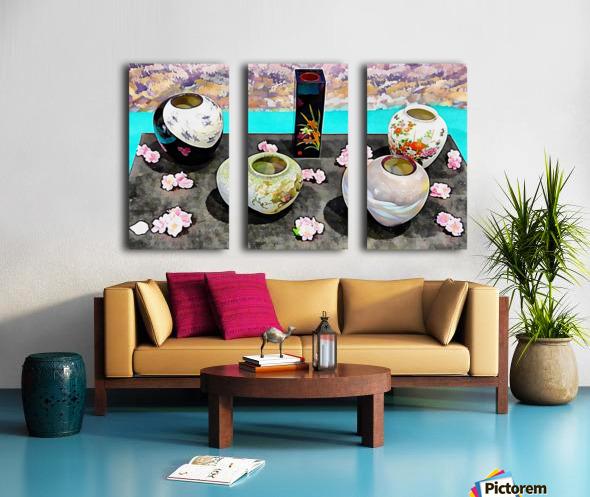 Japanese Vase Display Split Canvas print