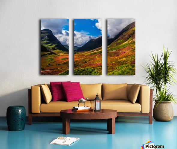 The Valley of Three Sisters. Glencoe. Scotland Split Canvas print
