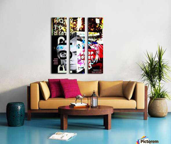 Moving in with the Pop Split Canvas print