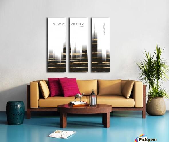 Urban Art NYC Skyline Split Canvas print