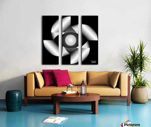 1-Golden Ratio B&W Split Canvas print