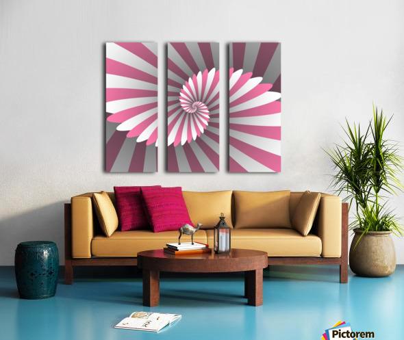 Swiggy Spiral Split Canvas print