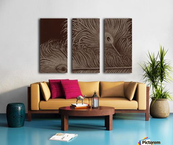 Full Bloom Sepia Split Canvas print