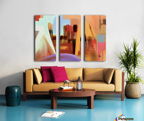 2456 Split Canvas print