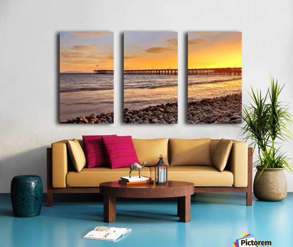 hot in california Split Canvas print