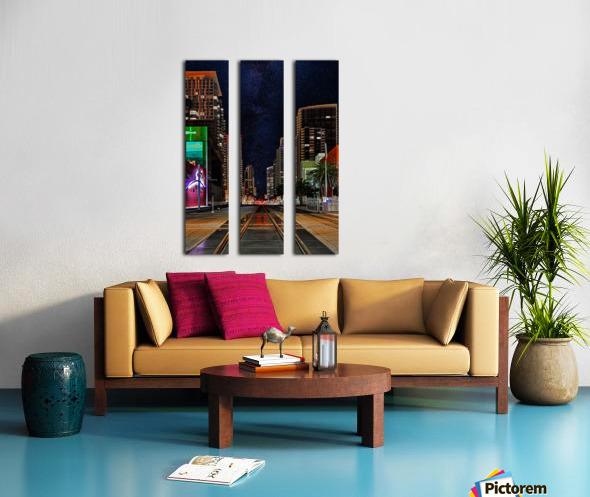 Midnight City Blues Split Canvas print