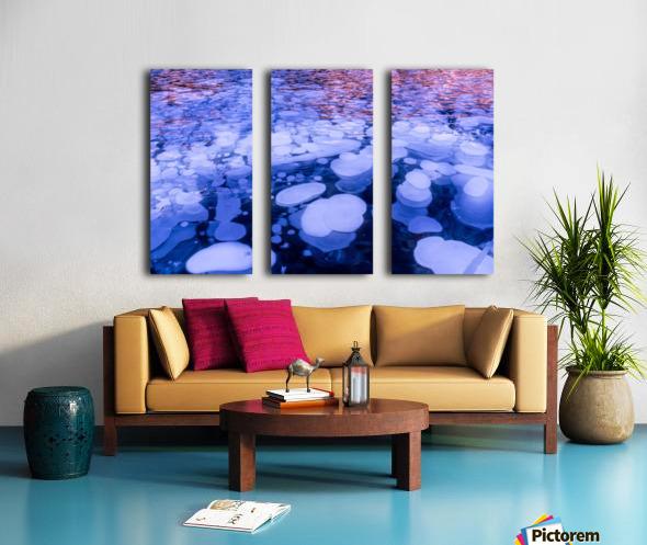 Abraham Lake Bubbles Split Canvas print