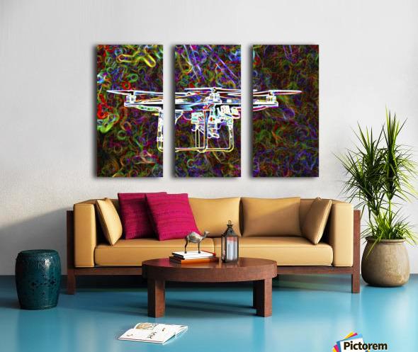 Colorful Quad Copter Split Canvas print