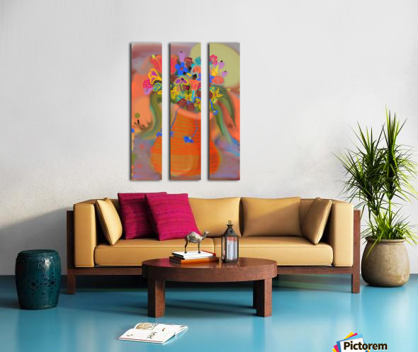 three vases (12) Split Canvas print