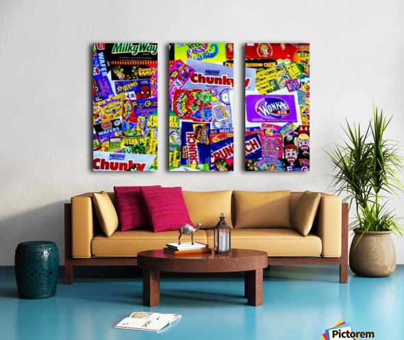 candy wrapper madness Split Canvas print