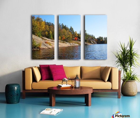Key River Shore In Fall I Split Canvas print
