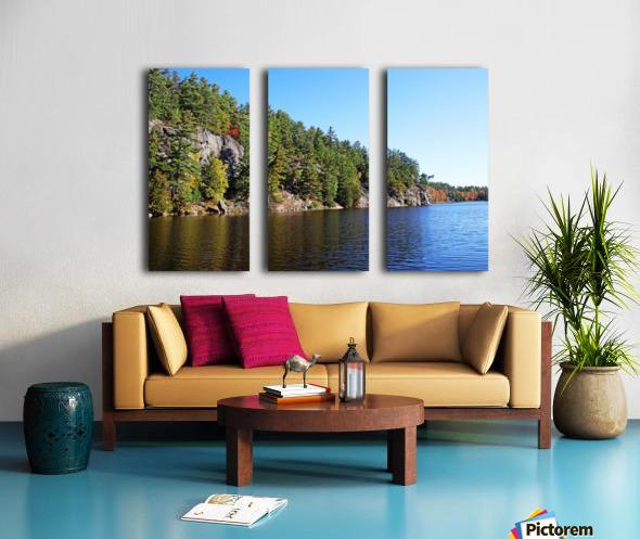 Key River Shore In Fall II Split Canvas print