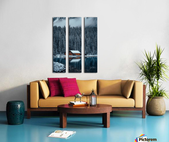 Lake Louise Cabin Split Canvas print